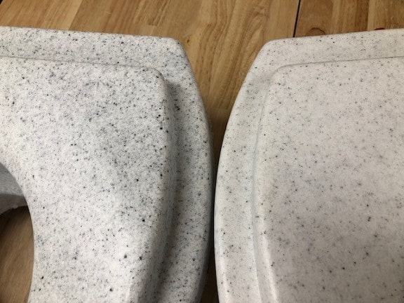 Comparison, White vs Dark Gray Granite